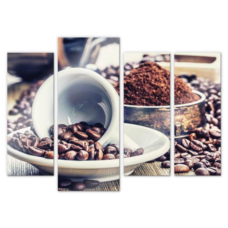 Acrylglasbild Kaffeeträume (4-teilig)