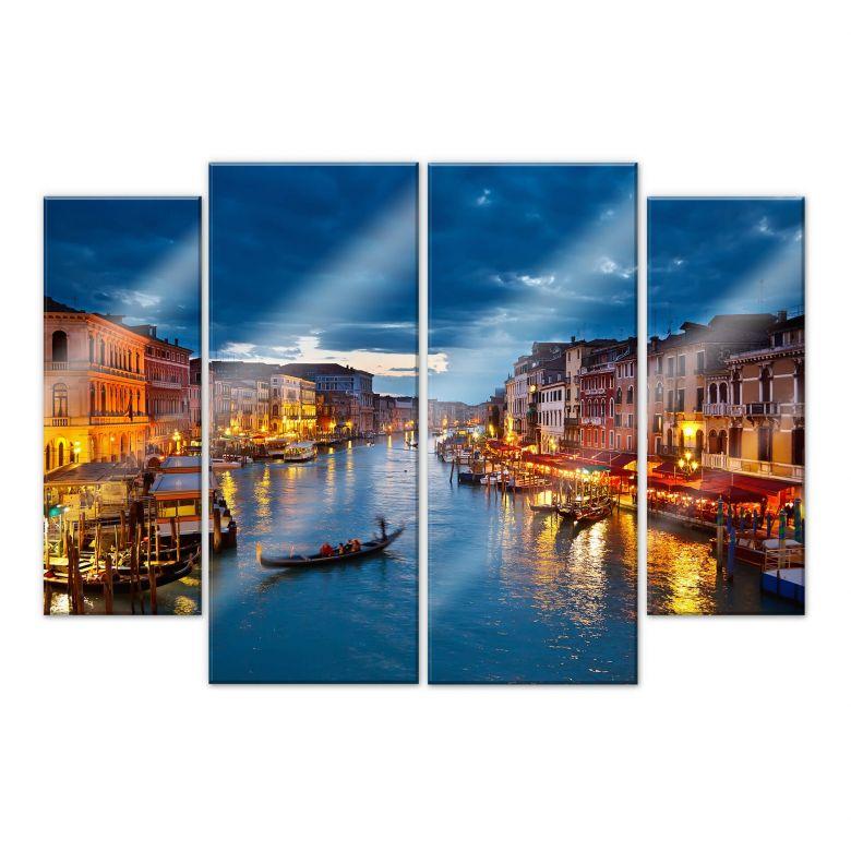Acrylglasbild Canal Grande in Venedig (4-teilig)