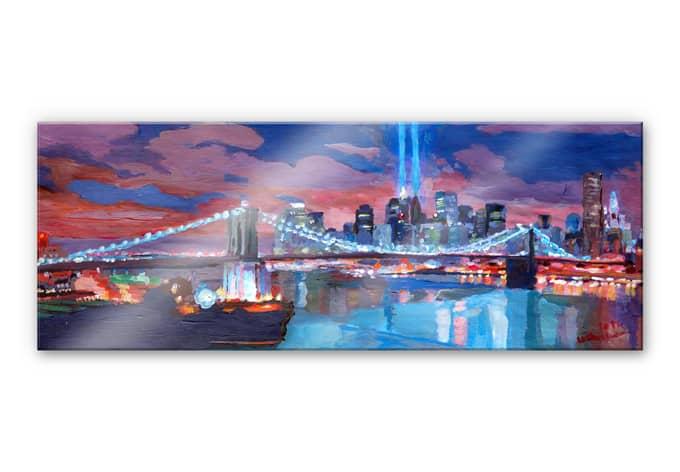 Acrylglasbild Bleichner - Manhattan Memories - Panorama