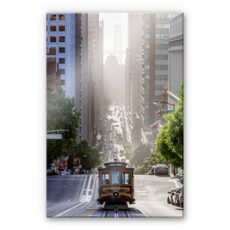Acrylglasbild Colombo - Cable Car in San Francisco