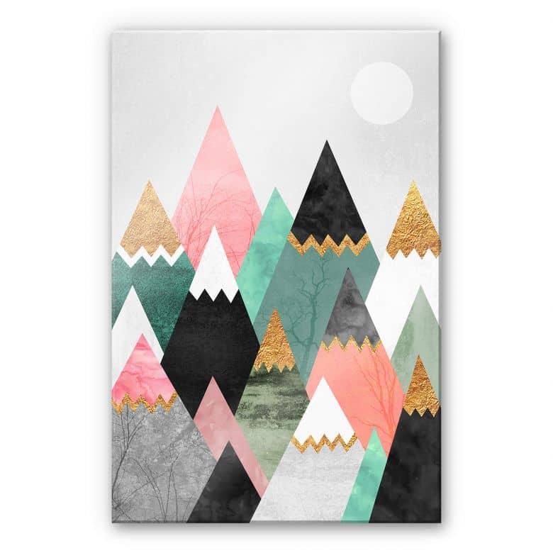 Acrylglasbild Fredriksson - Bunte Berge