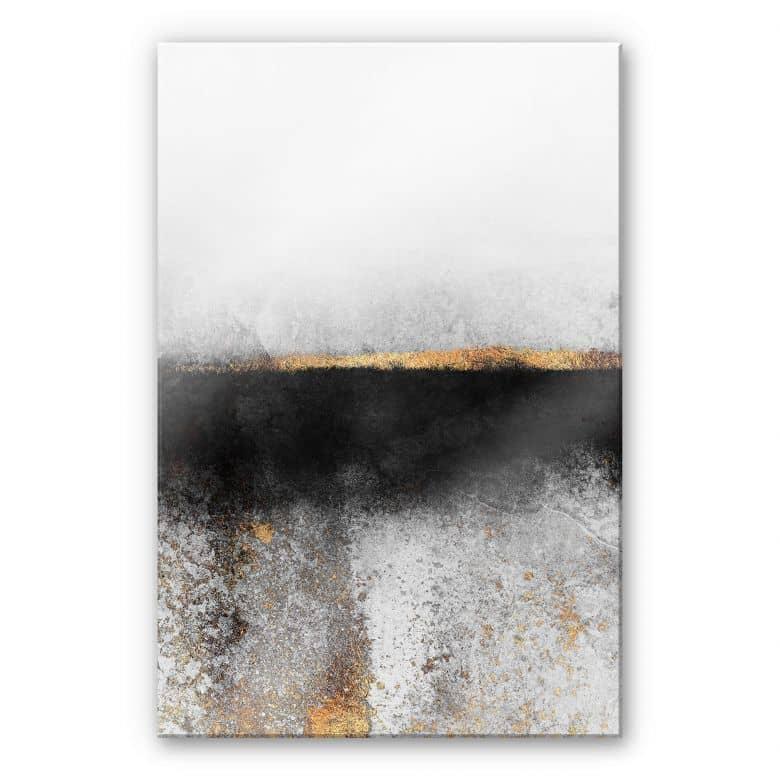 Acrylglasbild Fredriksson - Ruß und Gold
