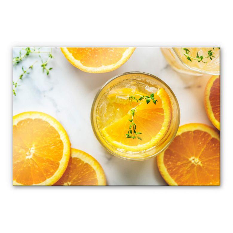 Acrylglasbild Frische Orange