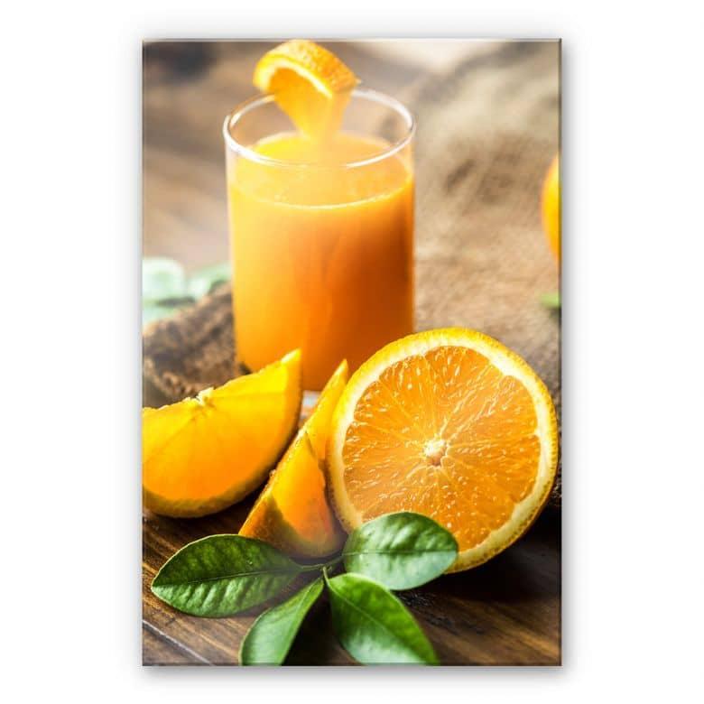 Acrylglasbild Frischer Orangensaft