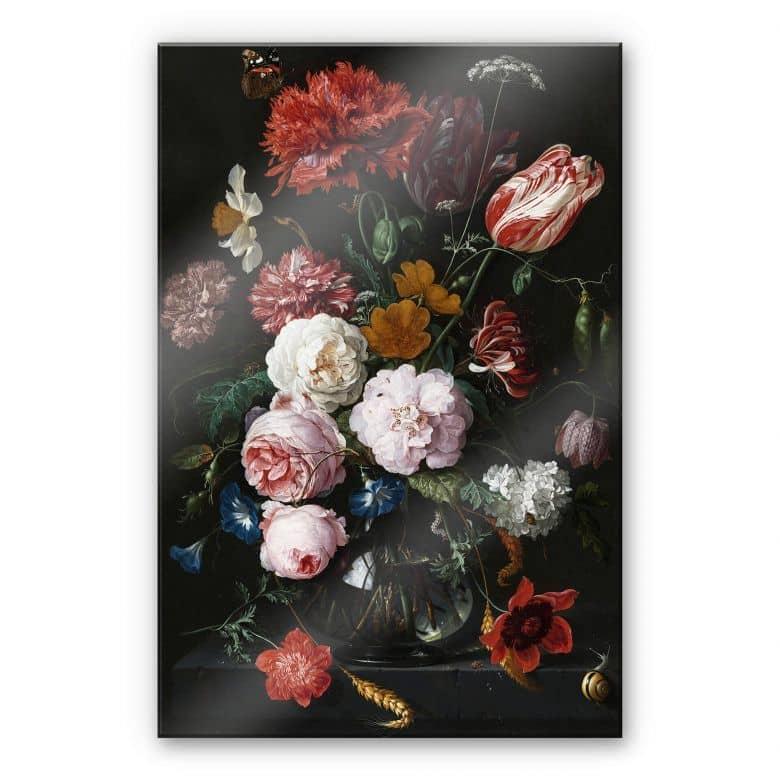 Acrylic Print de Heem - Flowers in a vase