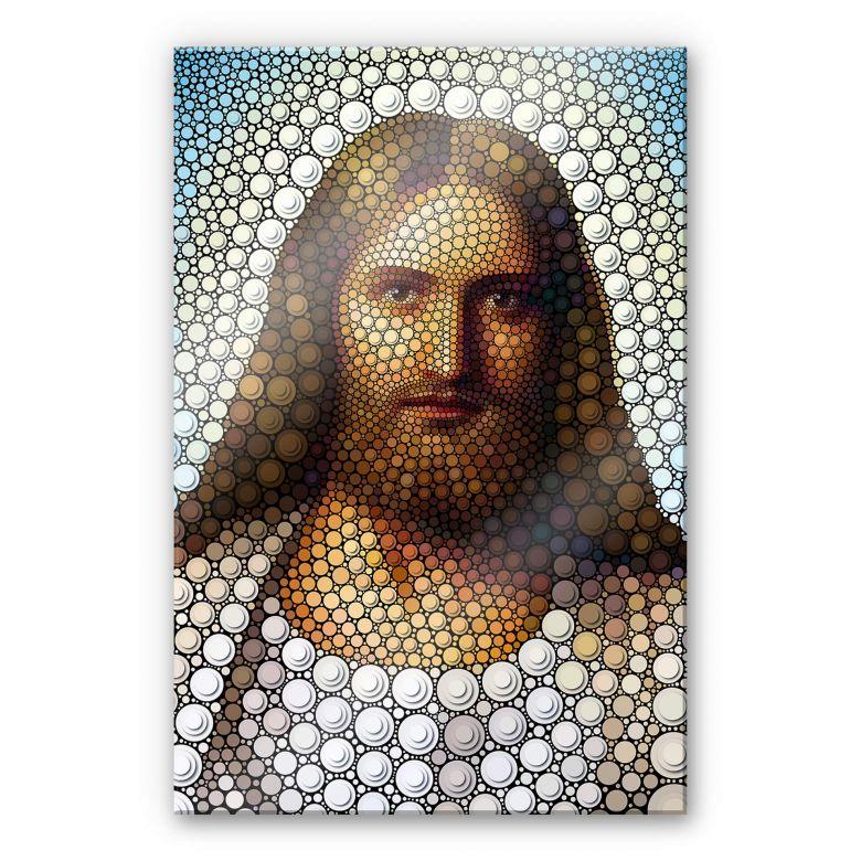 Acrylglasbild Ben Heine - Circlism: Jesus Christus