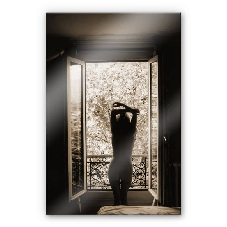 Acrylglas der blick aus dem fenster wall for Fenster 60x80