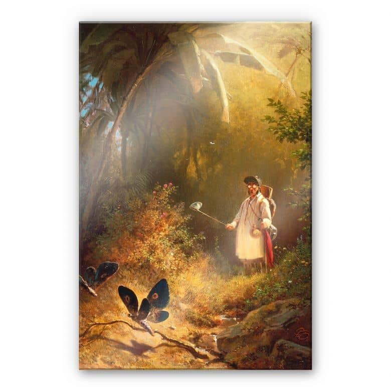 Acrylglasbild Spitzweg - Der Schmetterlingsfänger