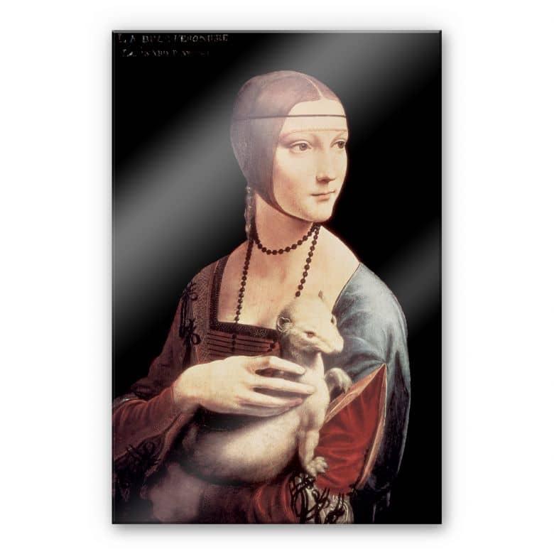 Acrylglasbild Da Vinci - Die Dame mit dem Hermelin