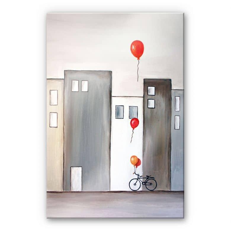 Acrylglasbild Melz - Der Ballonverkäufer