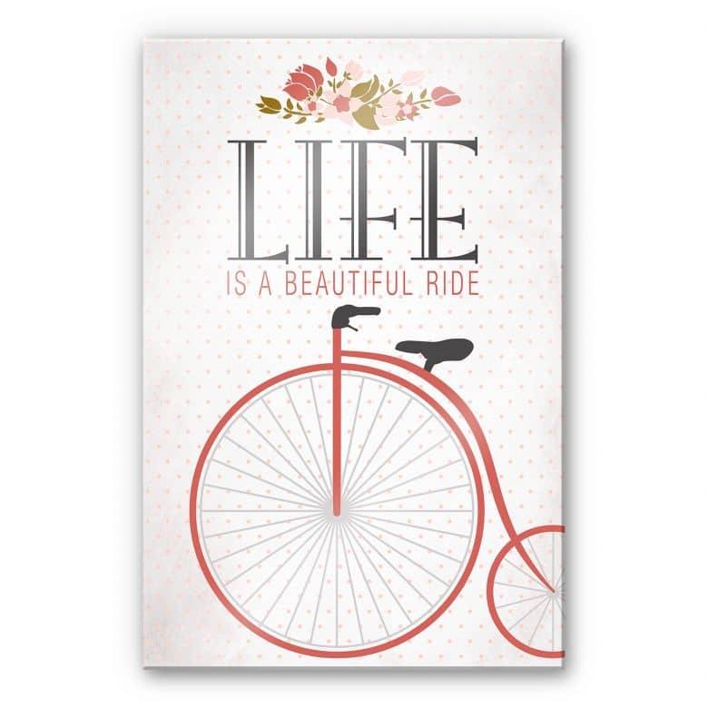 Acrylglasbild Life is a beautiful Ride