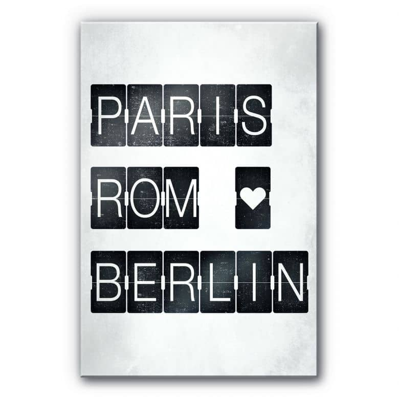 Acrylglasbild Paris-Rom-Berlin