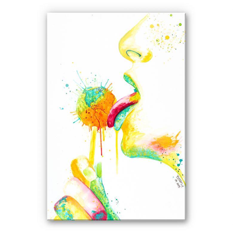Acrylglasbild Buttafly - Lollipop