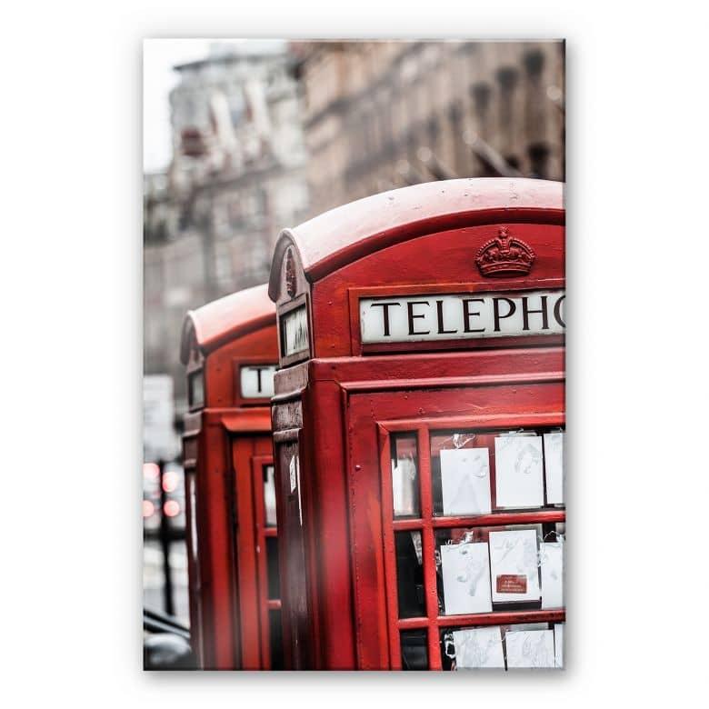 Acrylglasbild Britische Telefonzelle