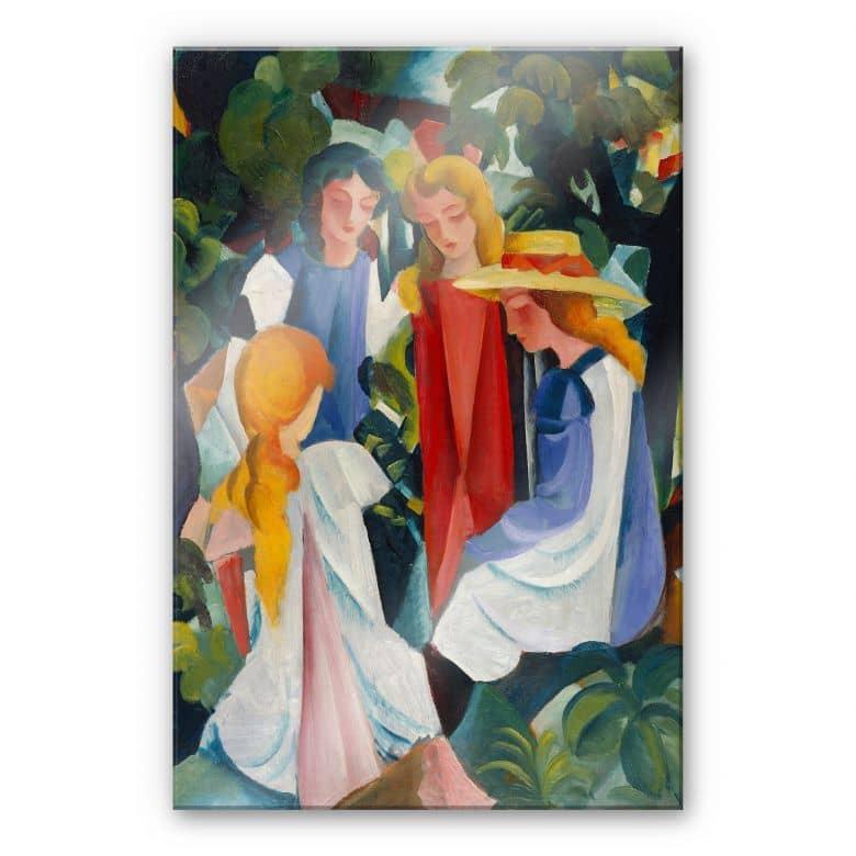 Acrylglasbild Macke - Vier Mädchen