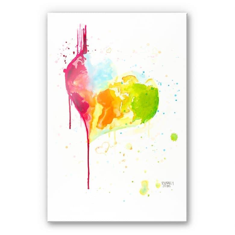 Acrylglasbild Buttafly - Heart World