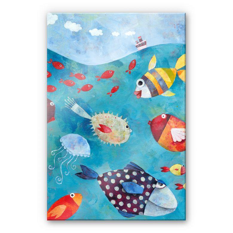Acrylglasbild Blanz - Fische im Meer