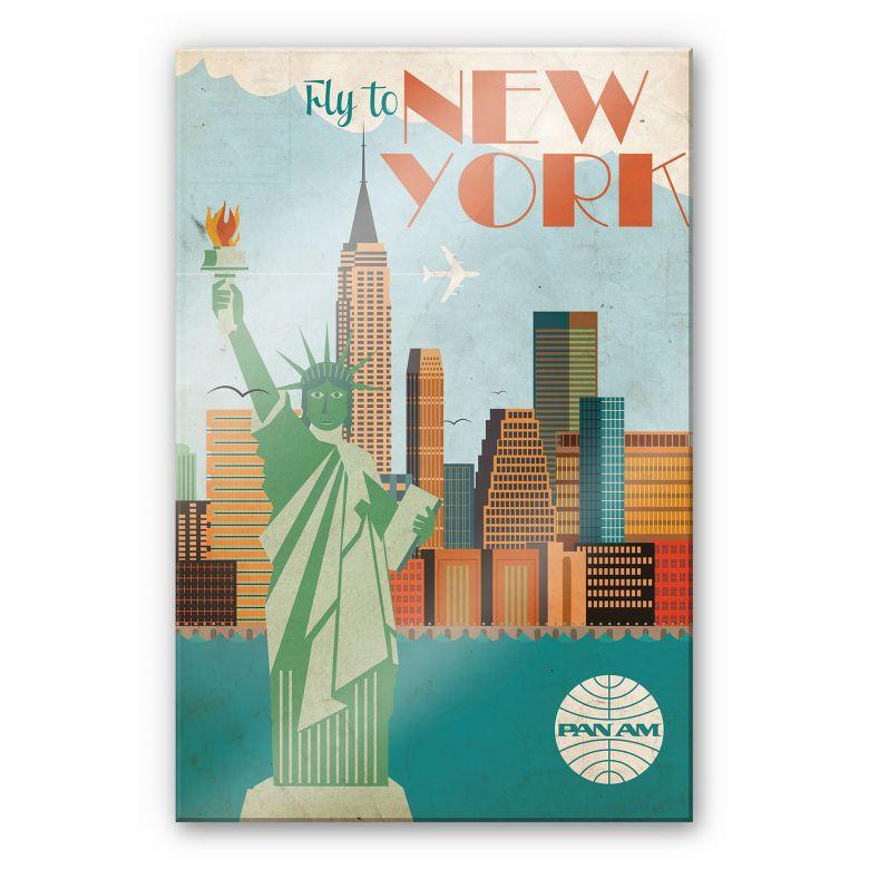 Acrylglasbild PAN AM - Fly to New York