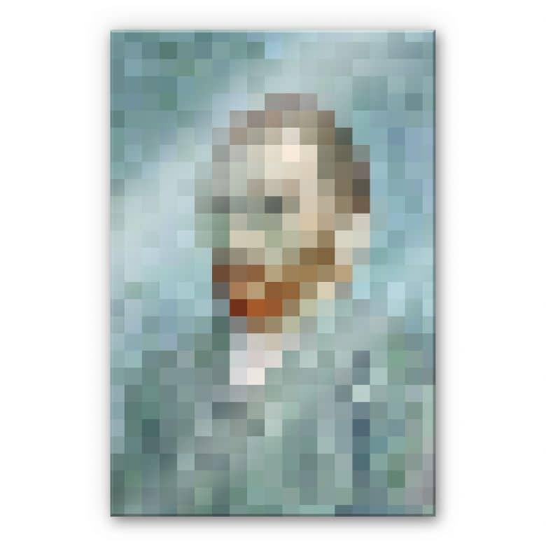 Acrylglasbild Pixelart - van Gogh - Selbstbildnis 1889