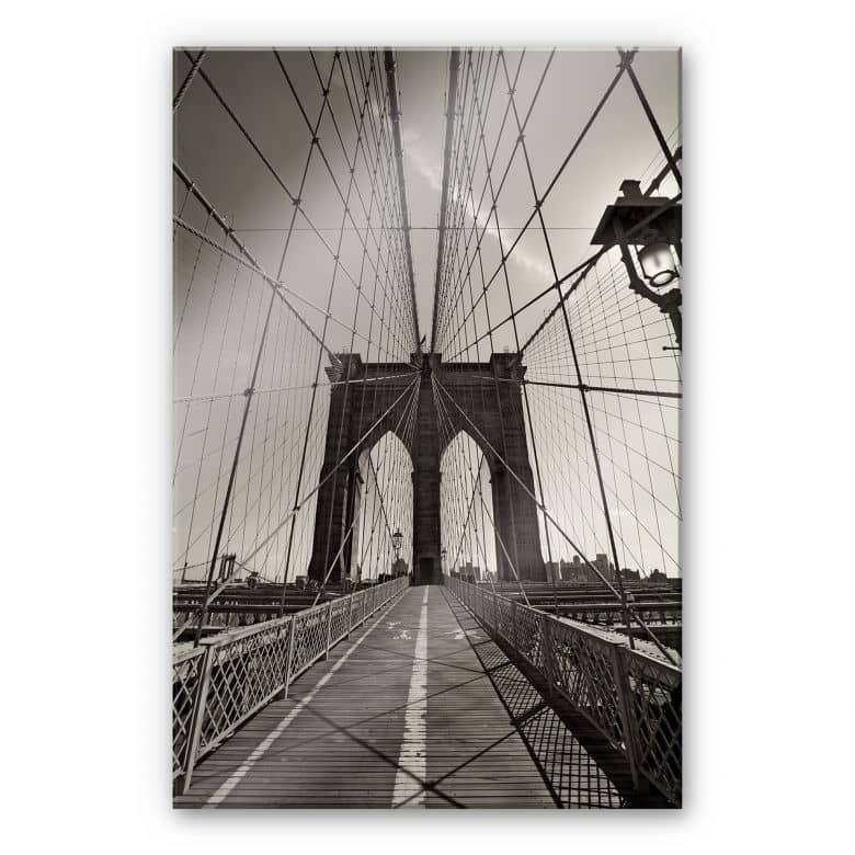Acrylglasbild Brooklyn Bridge Perspektive