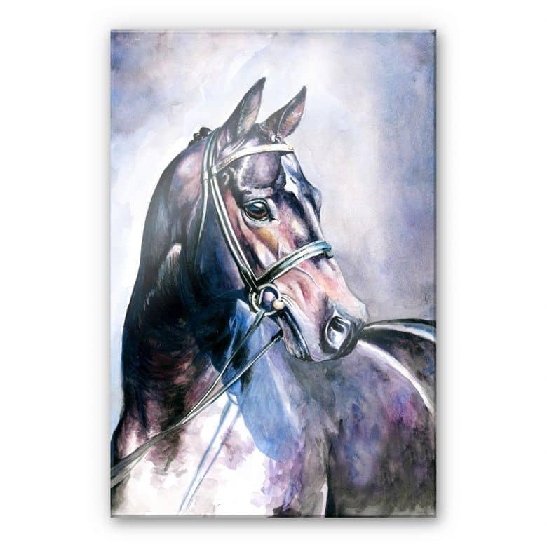 Acrylglasbild Aquarell eines Pferdes