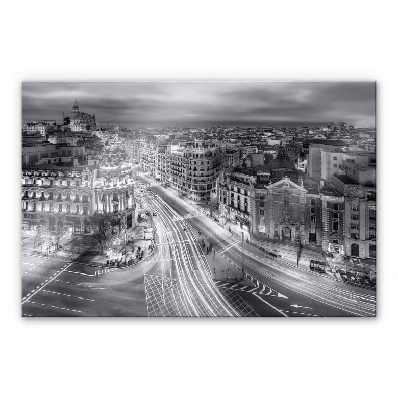 Acrylglasbild Javier - Madrid bei Nacht