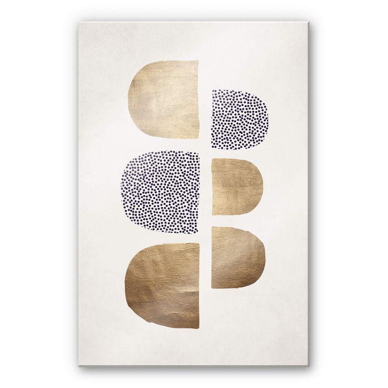 Acrylglasbild Kubistika - Golden Geometrica
