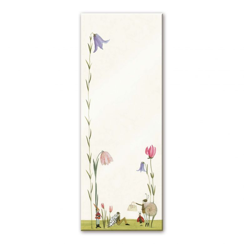 Acrylglasbild Leffler - Blütenschnecke