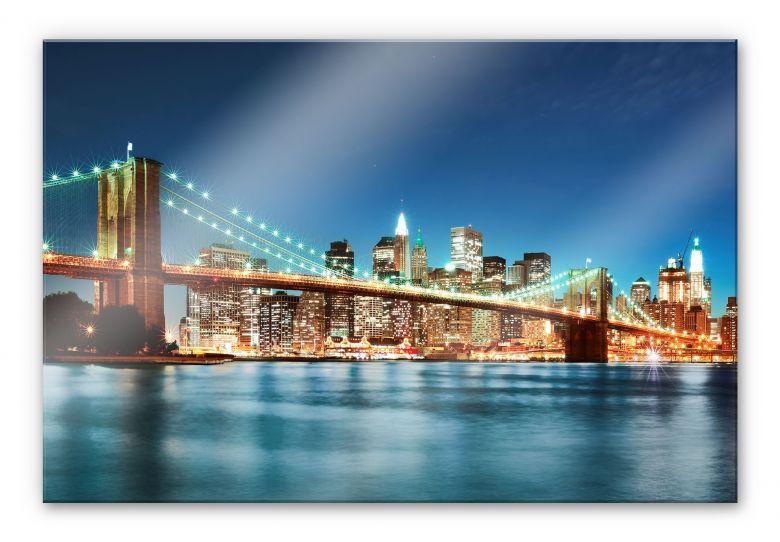 Acrylglasbild -  Lights in New York City 02