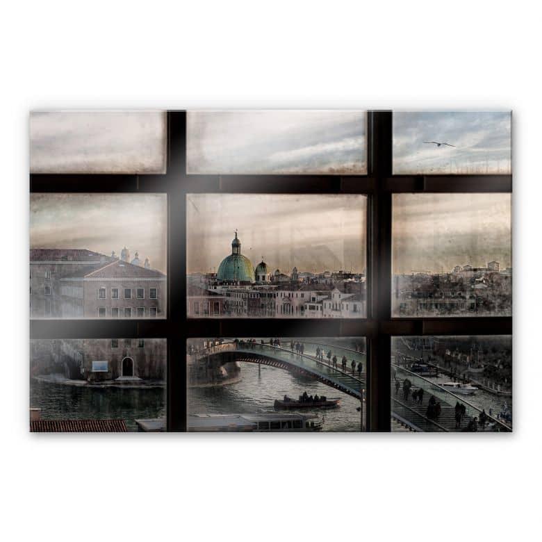 Acrylglasbild Marini - Fenster in Venedig