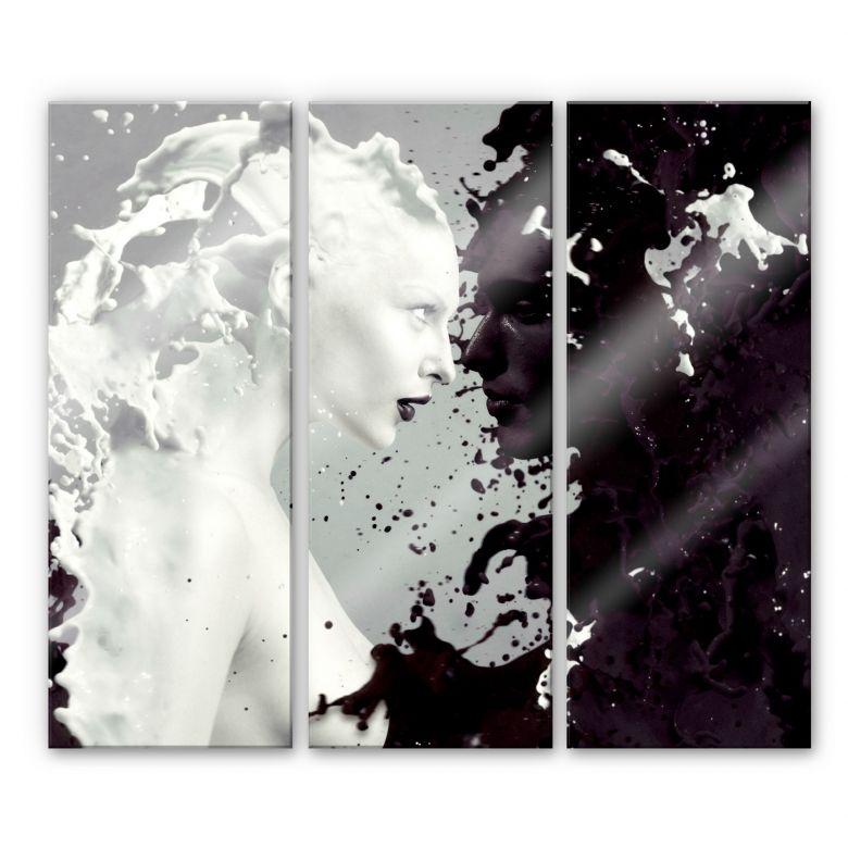 Acrylglasbild Milk & Coffee (3-teilig)