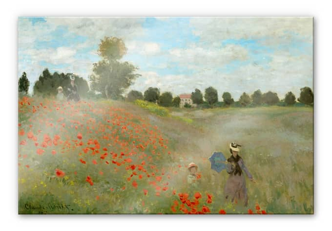 Monet - Poppy field near Argenteuil - Acrylic Glass