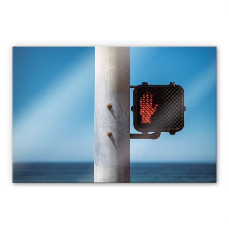 Acrylglasbild Ochlich - Stop