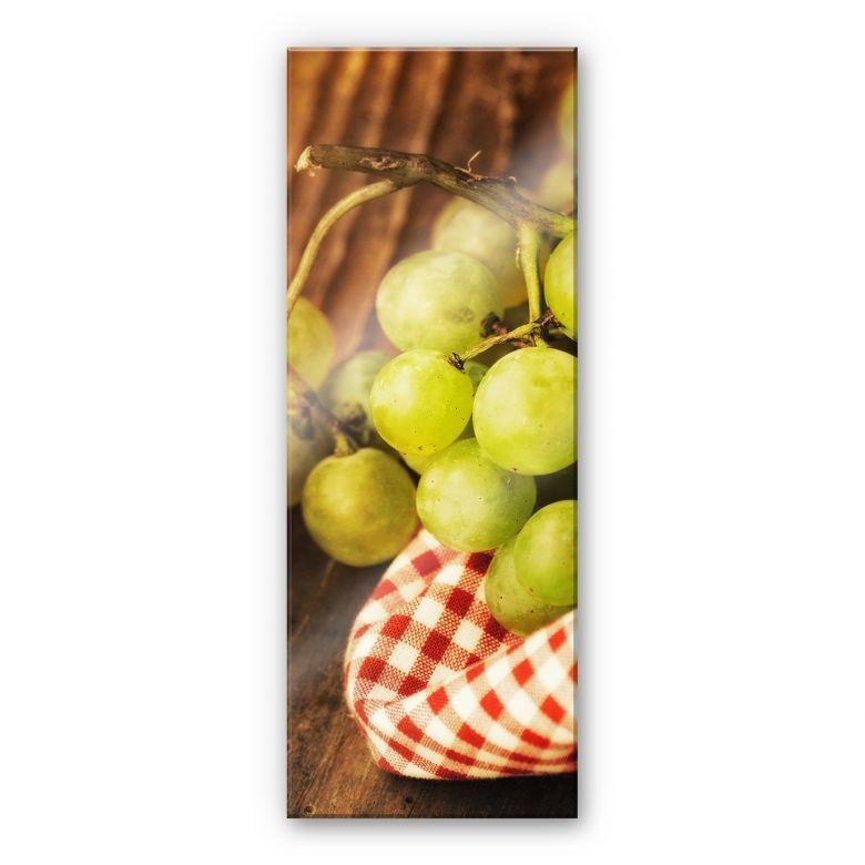 Acrylglasbild Süße Trauben - Panorama