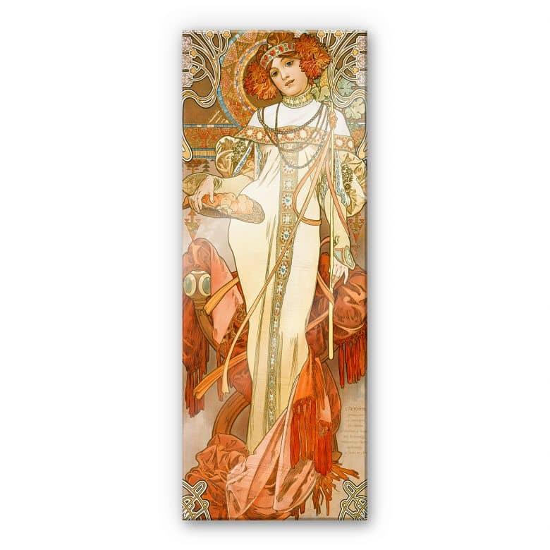 Acrylglasbild Mucha - Jahreszeiten: Der Herbst 1900