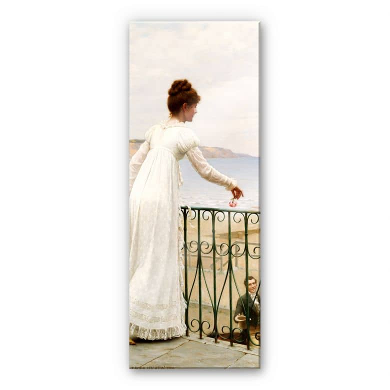 Acrylglasbild Leighton - Die Gunstbezeigung - Panorama