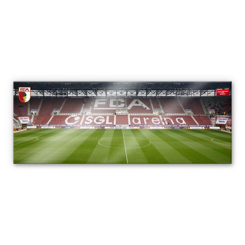 Acrylglasbild FC Augsburg Stadion Tribüne Panorama