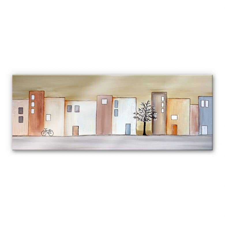 Acrylglasbild Melz - Stadtfrühling - Panorama