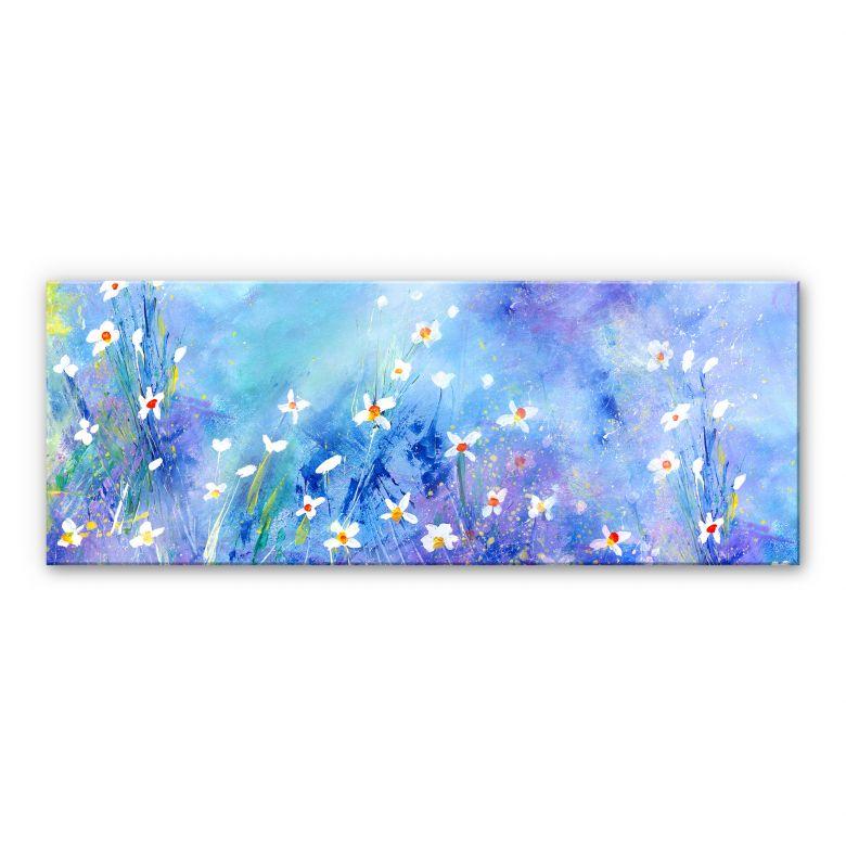 Acrylglasbild Niksic - Ein Sommer in Blau