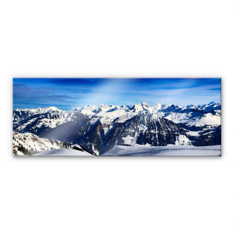 Acrylic glass Alpine Panorama