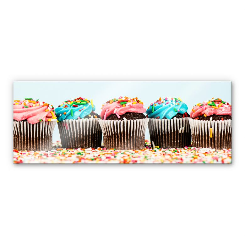Acrylglasbild Party Cupcakes - Panorama