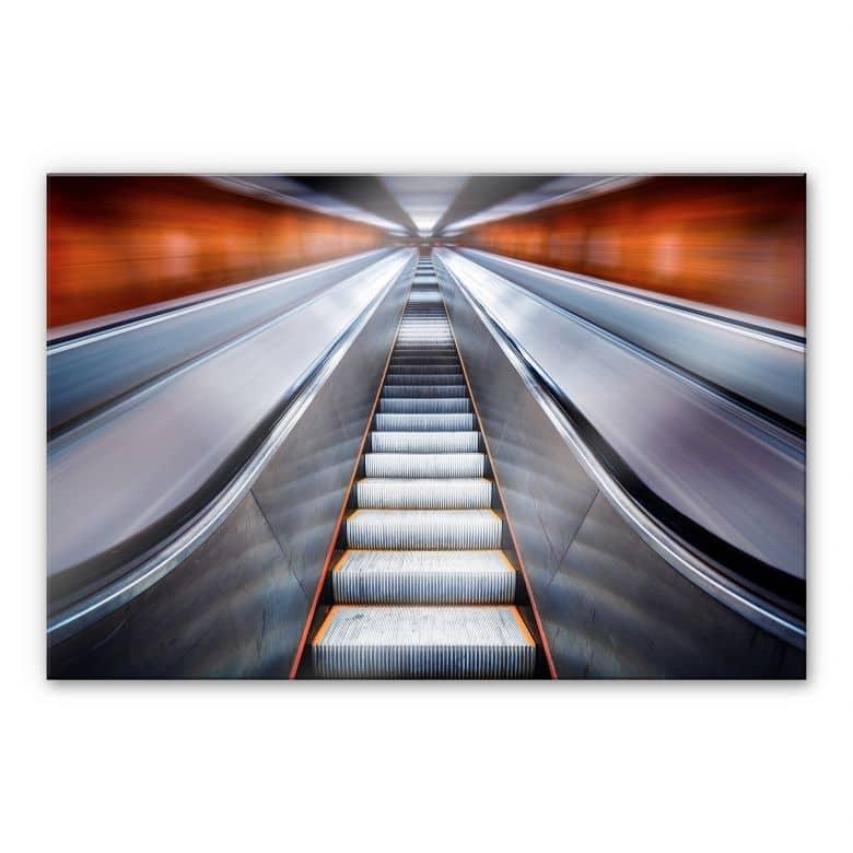 Acrylglasbild  Kay PK - Escalator
