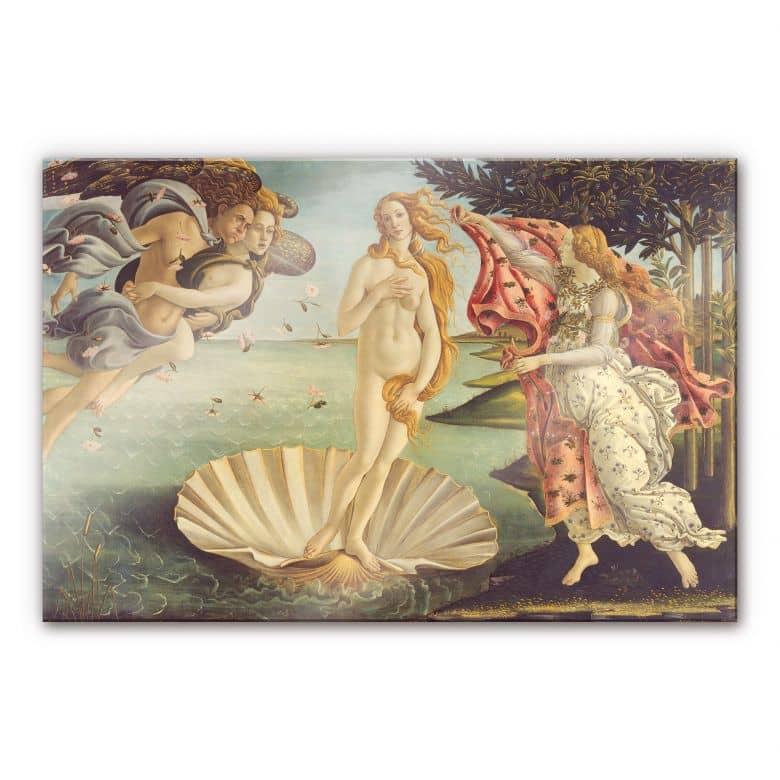 Acrylglasbild Botticelli - Geburt der Venus