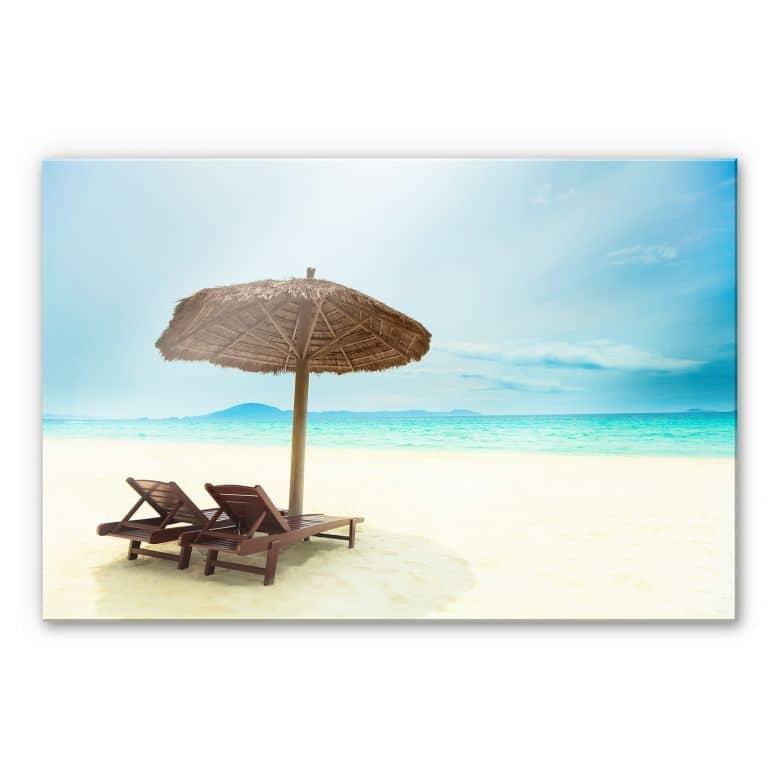 Acrylglasbild Holiday in Paradise