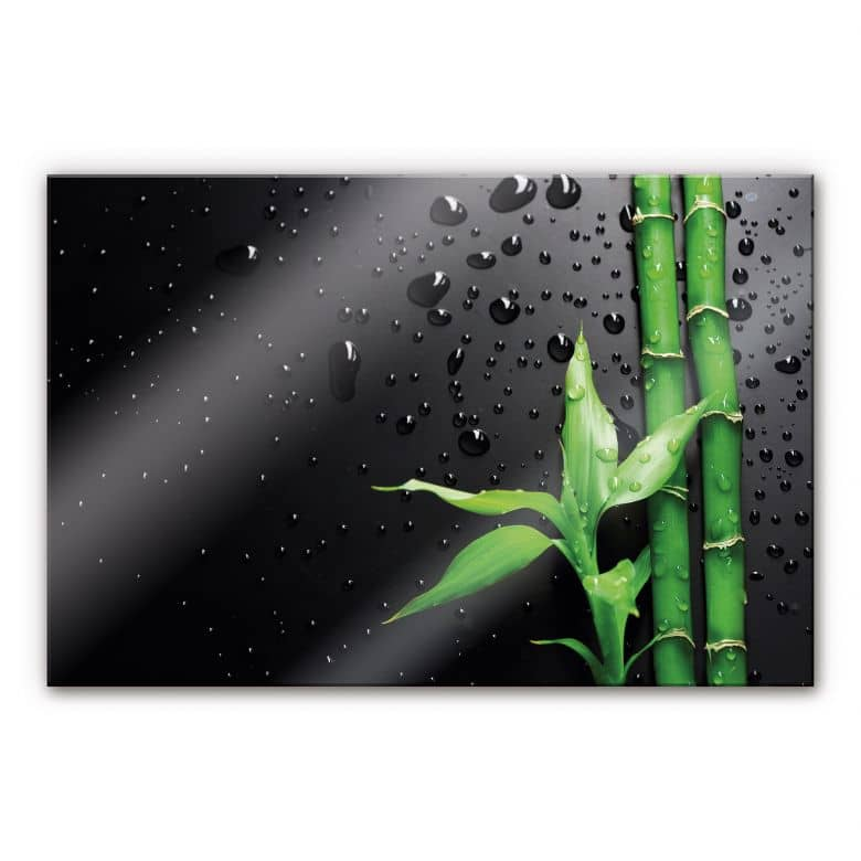 XXL Wandbild Bamboo Over Black