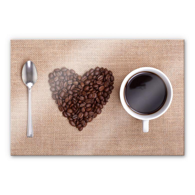 Acrylglasbild I love Coffee