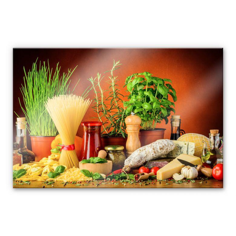 Acrylglasbild Italienisch Kochen