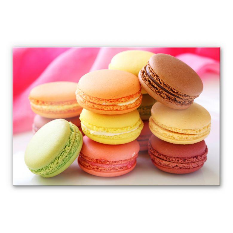 Acrylglasbild Sweet Macarons