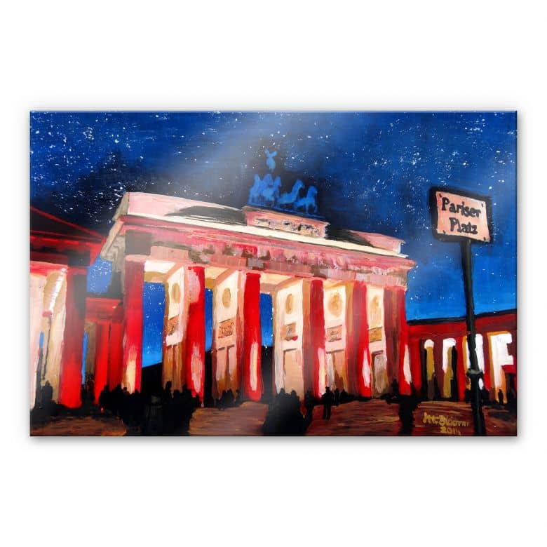 Acrylic glass Bleichner - Berlin beneath the starry sky