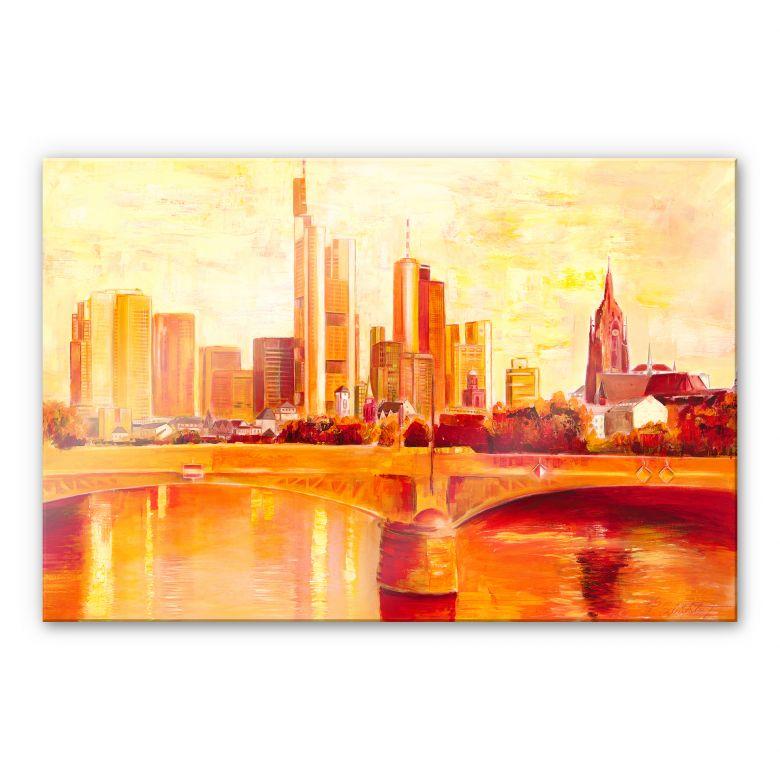 Acrylglasbild Schüßler - Skyline Frankfurt